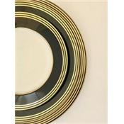Latitudes Black & Gold - Assiette Dessert 22 cm