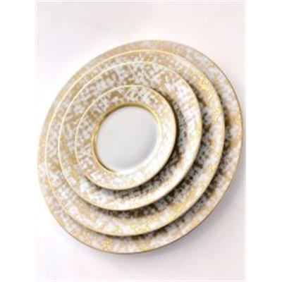 Tweed White & Gold - Assiette Plate 27.5 cm
