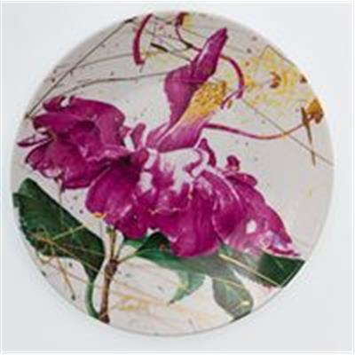BELLINGRATH COLLECTION BY NALL -DANCING CAMELLIA ASSIETTE DESSERT